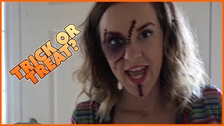 TRICK OR TREAT? HALLOWEEN CANDY HAUL| FAMILY VLOG | TERRA IS CHUCKY!