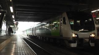 【HD】HB-E300系リゾートビューふるさと発車 松本にて