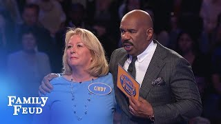 Cindy's the COMEBACK QUEEN!!! | Family Feud