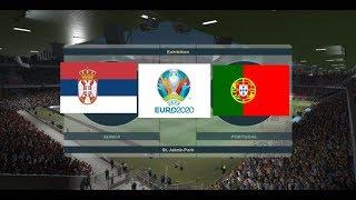 Serbia vs Portugal Vòng Loại Euro 2020 PES 2019