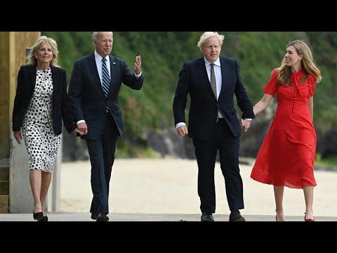 Joe Biden et Boris Johnson tout sourire malgré des différends politiques