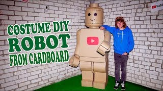 LEGO ROBOT COSTUME FROM CARDBOARD - DIY