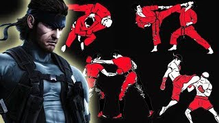 How many fighting styles does Solid Snake know in Metal Gear Solid?