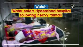 Watch: Water enters Hyderabad hospital following heavy rai..
