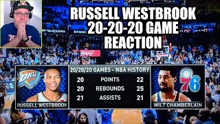 I Reacted To Russell Westbrook 20 points 20 rebounds 20 assists game