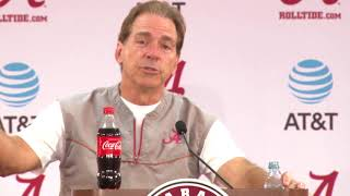 Nick Saban on danger of facing unranked teams like TN (10-18-17)