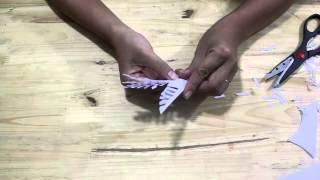 Khéo tay : hướng dẫn cắt hoa giấy 5 cánh