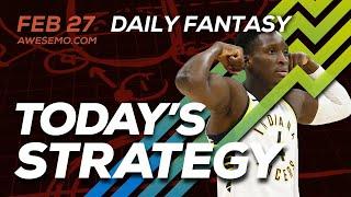 NBA DFS Strategy - Thu 2/27/20 - Awesemo.com