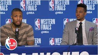 Damian Lillard, CJ McCollum break down what went wrong for Blazers in Game 2 l 2019 NBA Playoffs