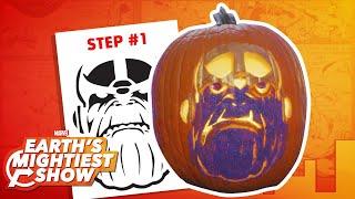 How to make a Thanos pumpkin for Halloween!   Earth's Mightiest Show Bonus