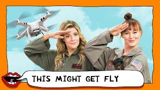 EATING DORITOS USING A DRONE with Grace Helbig & Mamrie Hart