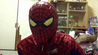 The Amazing Spiderman rubber mask review and V3 lens template