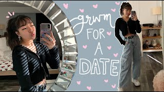 get ready with me for A DATE ;) with a boy omg...
