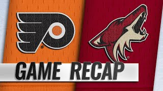 Giroux scores twice as Flyers down Coyotes
