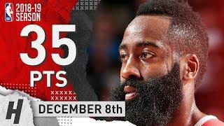 James Harden Full Highlights Rockets vs Mavericks 2018.12.08 - 35 Pts, 8 Ast, 4 Rebounds!