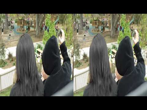 Sony Bloggie 3d camera at Happy Hollow Roller Coaster by bug3ater1