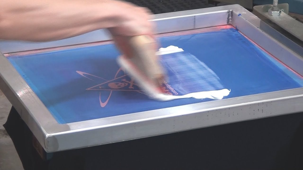 How To Screen Print Metallic Transfer Foil On Black T