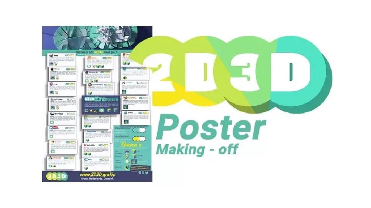2D3D Poster Making Off met Gimp en Scribus.