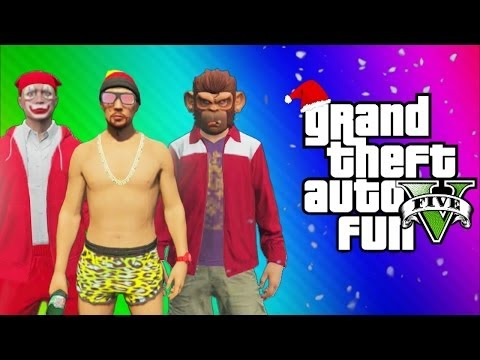 GTA 5 Online Funny Moments Gameplay - North Yankton Glitch, Titan Plane Fun, Alien, This Is Santa! - Smashpipe Games