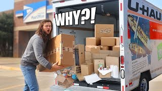 I Had To Rent A TRUCK To Pick Up My Fan Mail