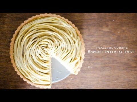 Sweet potato tart (vegan) ☆ さつま芋のモンブランタルト