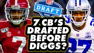 Who Were The 7 Cornerbacks Drafted Before Trevon Diggs?
