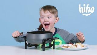 American Kids try Fondue | Kids Try | HiHo Kids