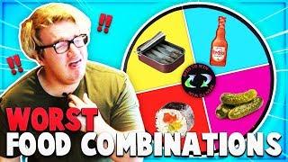 Wheel Spin FOOD CHALLENGE! WORST Food Combinations