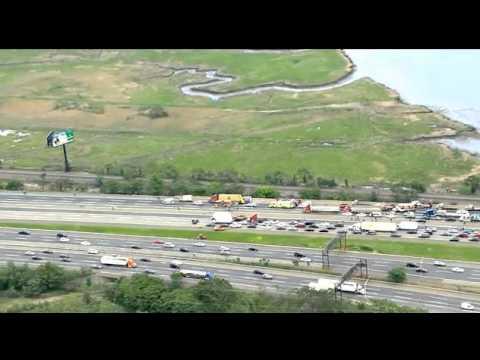 Carteret NJ (Middlesex Co) tractor trailer crash w entrapment & medevac with radio traffic