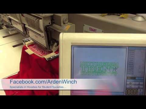 Watch as a hoodie for Nottingham Trent is embroidered