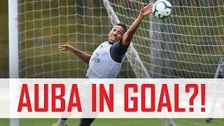 🤔 Aubameyang in goal?! Plus Mkhitaryan's free-kick madness   Behind the scenes