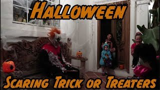 Scaring Trick or Treaters on Halloween