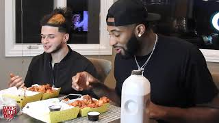 ANDRE DRUMMOND DOES BLAZIN WING CHALLENGE!