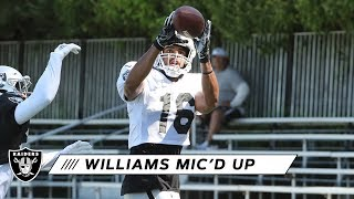 Tyrell Williams Mic'd Up at 2019 Training Camp | Raiders