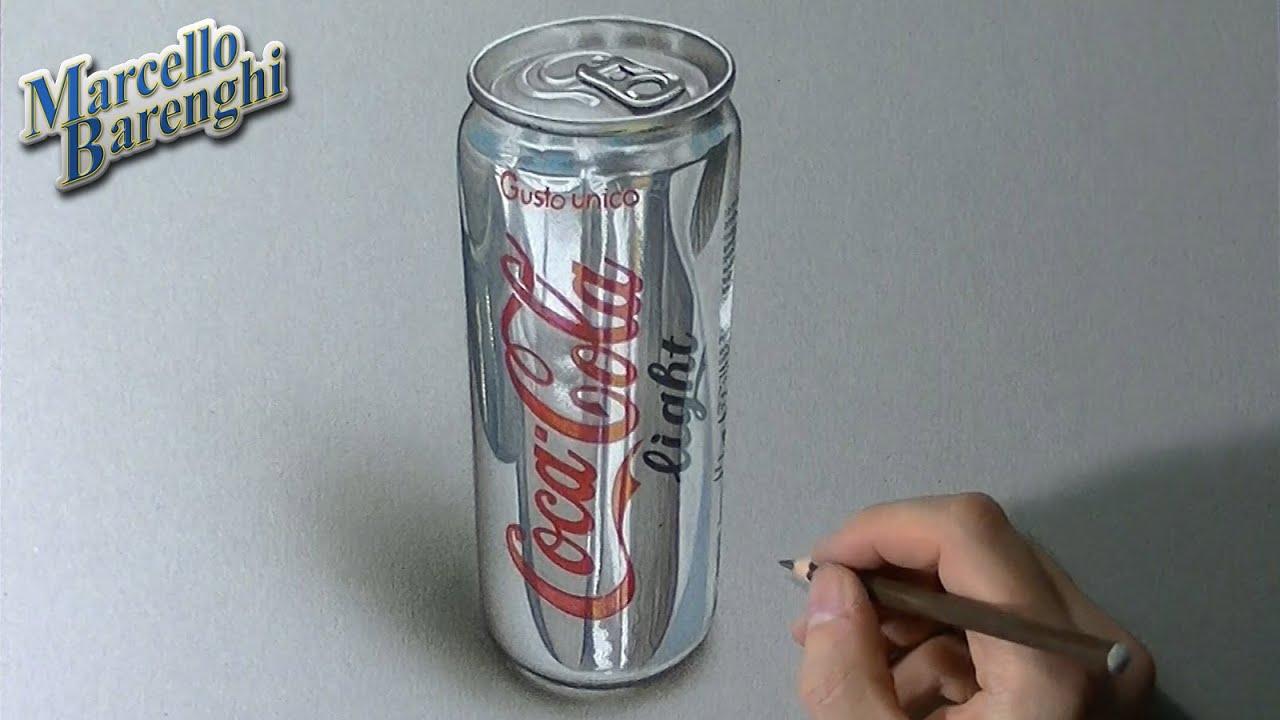 Comment dessiner une boite de coca light ?