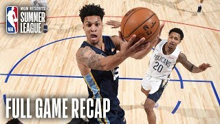GRIZZLIES vs PELICANS | Grizz Advance To Finals After OT Thriller  | MGM Resorts NBA Summer League