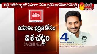 YS Jagan Placed 4th Best Performing CM- India Today..