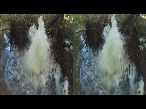 GEYSER 3D! Anomaly in the forest! 3D VIDEO