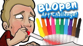BLOPEN Art Challenge - EPIC Art with Children's Stationary!