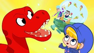 Morphle dropped his Icecream! My Magic Pet Morphle episodes for kids (T-Rex, Turtle, Spinosarus)