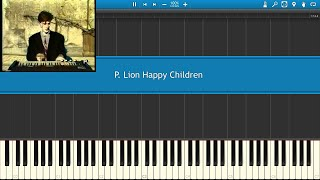 P. Lion Happy Children piano Synthesia