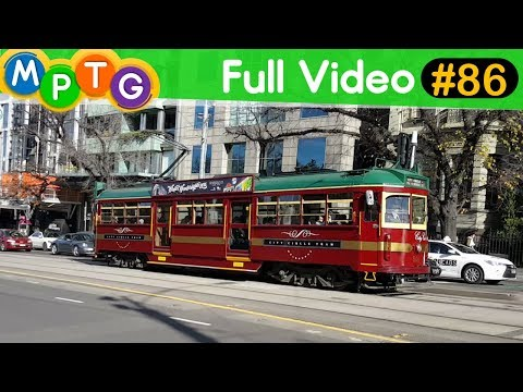 Melbourne's Trains, Trams and Buses (Full Video #86)