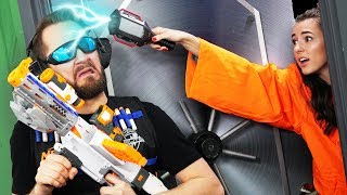 NERF Robot Prison Escape | Hack a Guard Challenge!