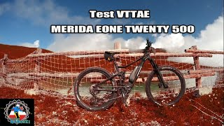 ebike / test VTTae MERIDA eONE TWENTY 500 aux Contamines Monjoie suivi drone staaker