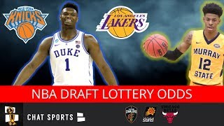2019 NBA Draft Lottery Order: Knicks, Cavs, Suns With Best Odds To Land #1 Pick Zion Williamson