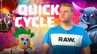 12 WIN Quick Cycle Pekka Balloon Miner Deck! LIVE Grand Challenge Gameplay - Clash Royale