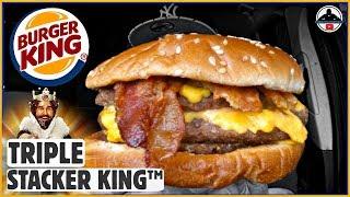 Burger King® | Triple Stacker King™ Review! 🍔👑🧀🥓