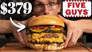 $379 Five Guys Bacon Cheeseburger Taste Test | FANCY FAST FOOD