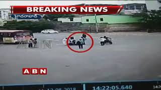 CCTV: Conductor falls down from moving bus in Hyd..