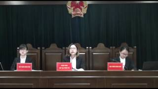 [ĐHNT-KHOA LUẬT-LTTDS] Phiên tòa giả định 2017: Xét xử sơ thẩm